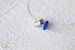 blaue Seeglas Halskette