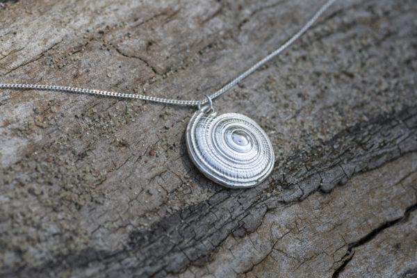 maritime Halskette mit Muschelanhänger 925 Silber