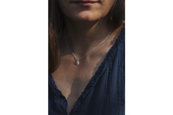 maritimer Schmuck: Muschelkette Sterling Silber